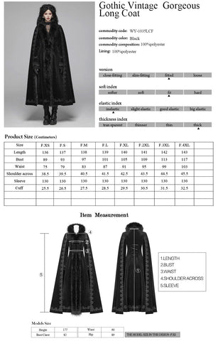 Punk Rave Royal Darkness Coat WY-1035