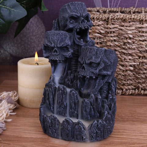 Skull Backflow Incense Tower