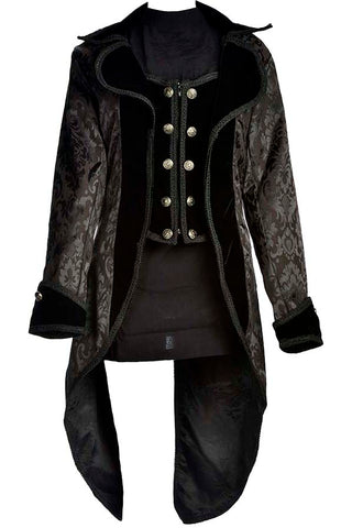 Dark Star Velvet and Brocade Tailcoat | Angel Clothing