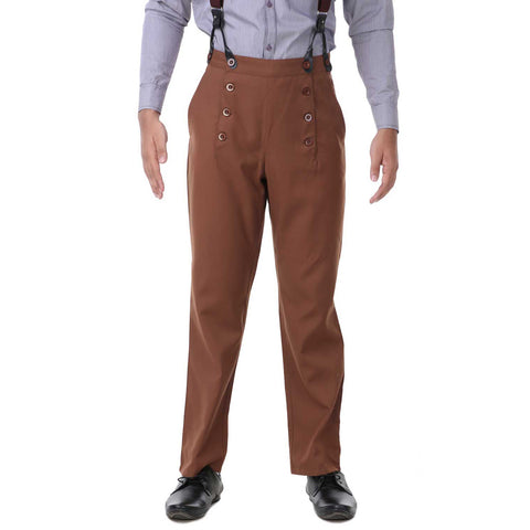 Steampunk Architect Pants Brown | Angel Clothing