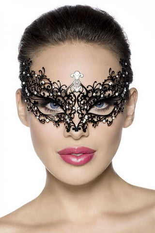 Masquerade Rhinestone Metal Mask | Angel Clothing
