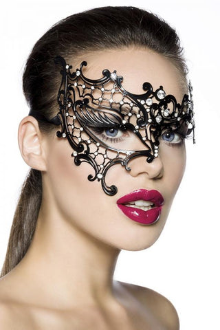 Masquerade Metal and Rhinestone Mask | Angel Clothing