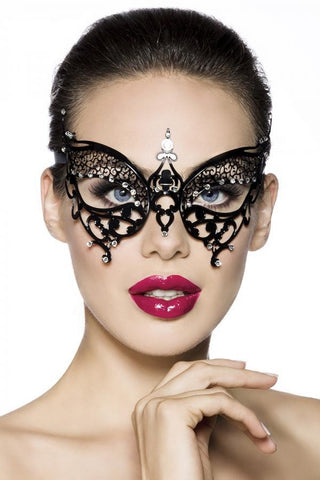 Masquerade Butterfly Rhinestone Metal Mask | Angel Clothing
