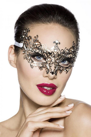 Masquerade Silver and Rhinestone Metal Mask | Angel Clothing