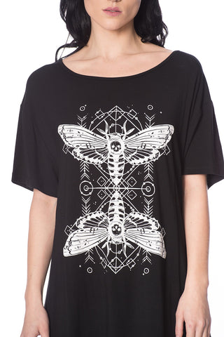 Banned Death Moth Top | Angel Clothing