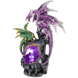 Crystal Cave LED 2 Dragons Purple Large | Angel Clothing