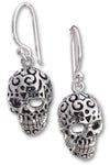 Seventh Sense Silver Skull Earrings | Angel Clothing
