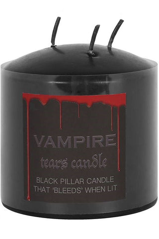 Vampire Tears Pillar Candle 7.5cm | Angel Clothing