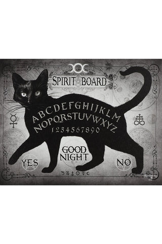 Alchemy Gothic Black Cat Spirit Board Picture | Angel Clothing