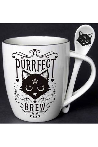 Alchemy Purrfect Brew Mug and Spoon Set | Angel Clothing