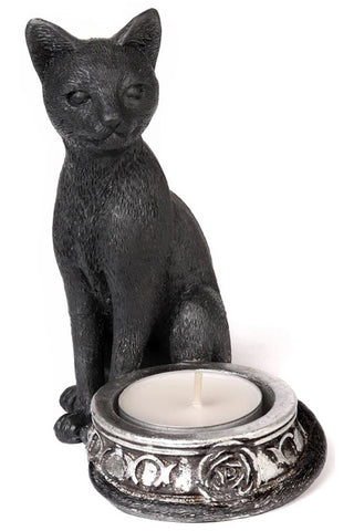 Alchemy Black Cat T-Light Holder