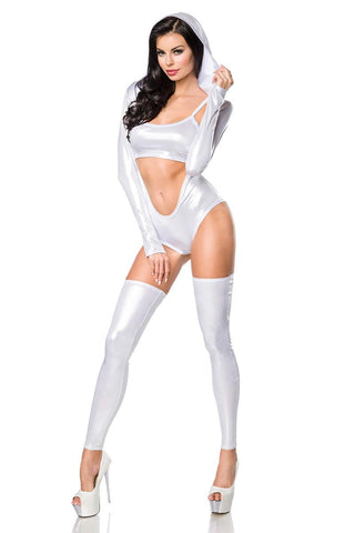 Saresia Wetlook Silver Body Set | Angel Clothing