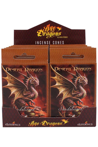 Anne Stokes Desert Dragon Incense Cones | Angel Clothing