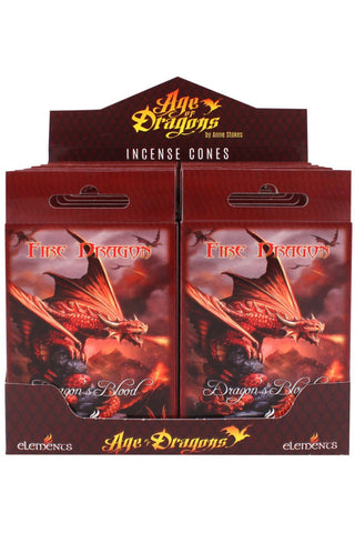 Anne Stokes Fire Dragon Incense Cones | Angel Clothing