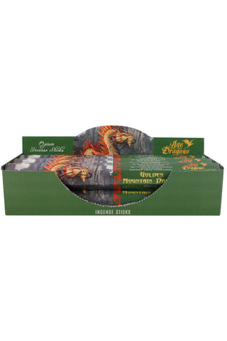 Anne Stokes Golden Mountain Dragon Incense Sticks | Angel Clothing