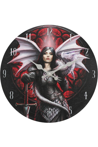 Anne Stokes Valour Wall Clock | Angel Clothing