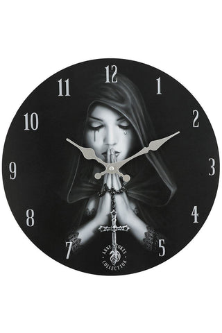 Anne Stokes Gothic Prayer Wall Clock | Angel Clothing