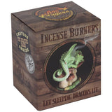 Anne Stokes Green Dragon Incense Cone Burner | Angel Clothing