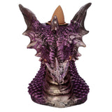 Dragons Head Backflow Incense Burner Purple | Angel Clothing