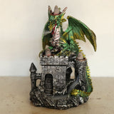Dragons Castle Triple Backflow Incense Burner Green | Angel Clothing