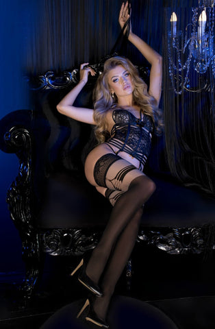 Ballerina Black Skin 496 Hold Ups | Angel Clothing