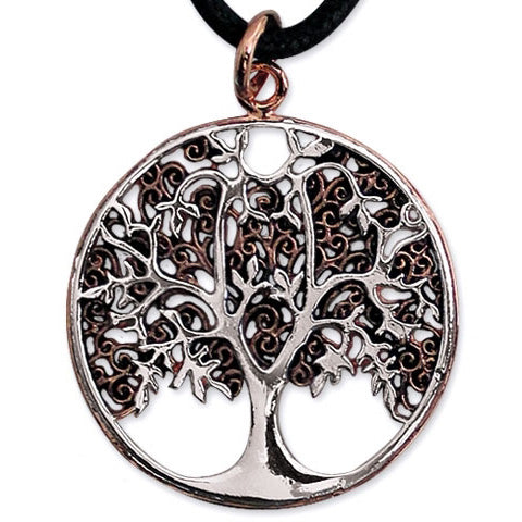 Echt etNox Bronze/Silver Plated Tree of Life Pendant | Angel Clothing