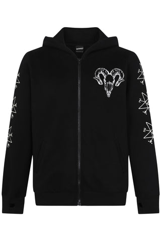 Banned Mens Ram Skull Pentagram Jacket | Angel Clothing