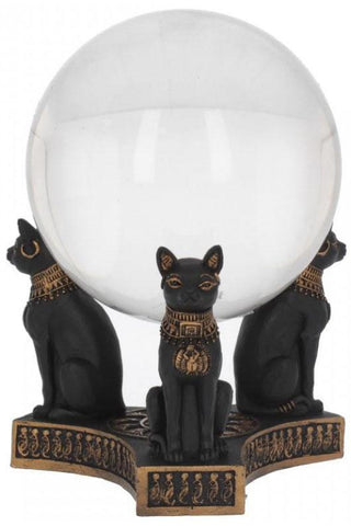 Bastet's Honour Crystal Ball Holder 12.7cm | Angel Clothing