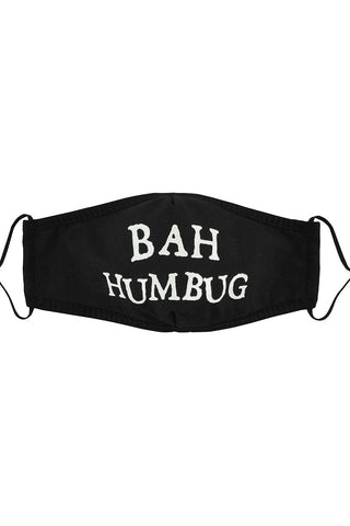 Black Bah Humbug Reusable Face Covering | Angel Clothing