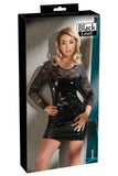 Black Level Vinyl Dress with Lace Medium | Angel Clothing