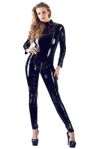 Black Level Vinyl Jumpsuit | Angel Clothing