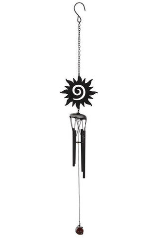 Black Sun Cutout Windchime | Angel Clothing