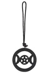 Black Wooden Hanging Triple Moon | Angel Clothing