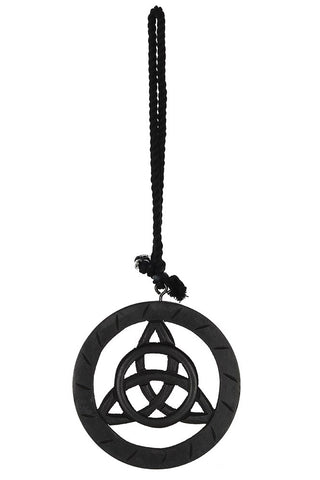 Black Wooden Hanging Triquetra | Angel Clothing