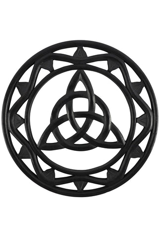 Black Wooden Triquetra Wall Art | Angel Clothing