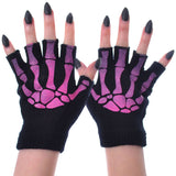BGS Black / Pink Fingerless Gloves | Angel Clothing