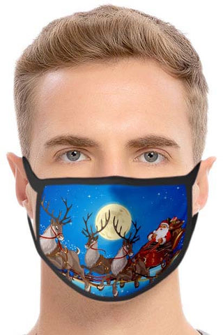 Christmas Face Mask Santa on Sledge | Angel Clothing