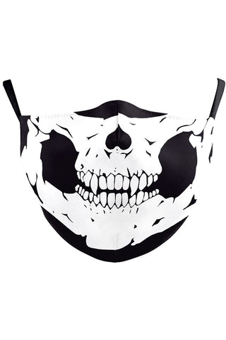 Classic Skull Reusable Face Mask | Angel Clothing