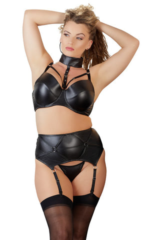Cottelli Collection Plus Size 3-piece Wetlook Set | Angel Clothing