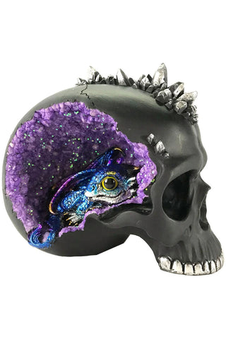 Crystal Cave Skull and Dragon Purple | Angel Clothing