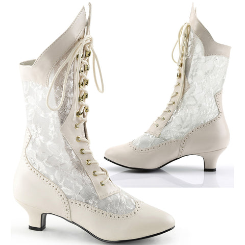 Funtasma Dame 115 Boots Ivory | Angel Clothing