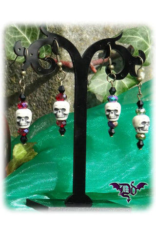 Dragophelion Designs Bronze Halloween Skull Earrings - 2 Colours | Angel Clothing
