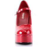 Demonia DOLLY-50 Shoes Red | Angel Clothing