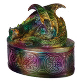 Rainbow Dragon Metallic Trinket Box | Angel Clothing