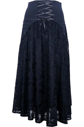 Dark Star Black Gothic Skirt | Angel Clothing