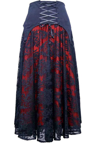 Dark Star Black Red Gothic Skirt | Angel Clothing
