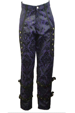 Dark Star Purple Brocade Trousers | Angel Clothing
