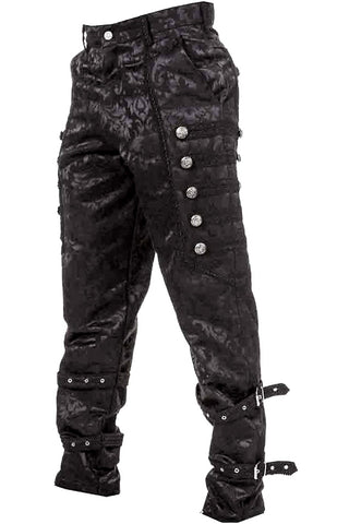 Dark Star Black Brocade Trousers | Angel Clothing