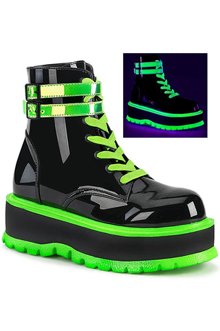 Demonia Slacker 52 Green Boots | Angel Clothing