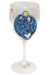 Dragon Wine Glass Blue | Angel Clothing